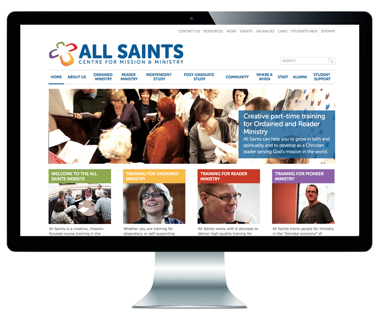 All Saints website home page