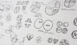 Sketches from identity concept work