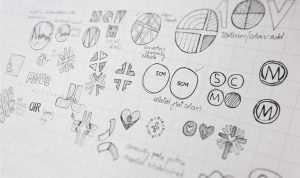 Drawings for a visual identity project