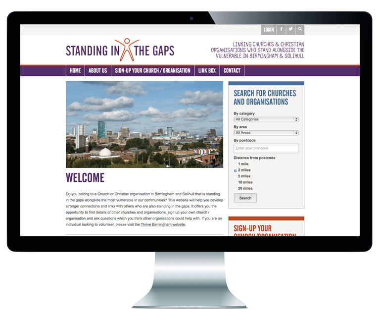 Standing in the Gaps website