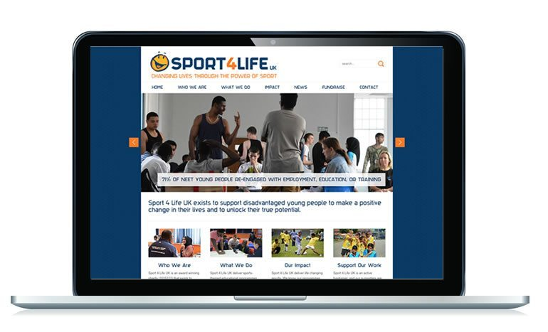 Sport4Life UK website homepage
