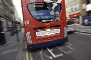 Prayers on the Move bus poster