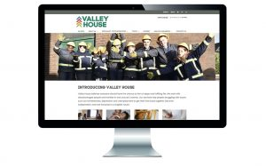 Screen shot of Valley House website