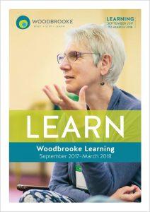 Cover of Woodbrooke's Learn brochure