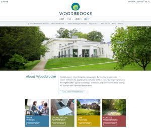 woodbrooke.org.uk - About Us landing page