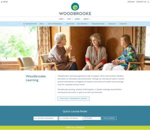 Woodbrooke.org.uk - Courses landing page