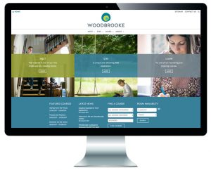 Home page of Woodbrooke's new website