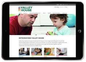 Home page of Valley House website