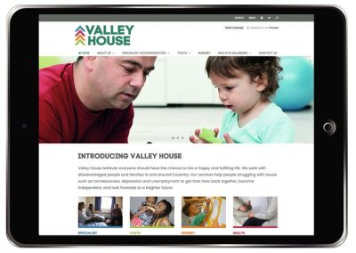 Website for Valley House