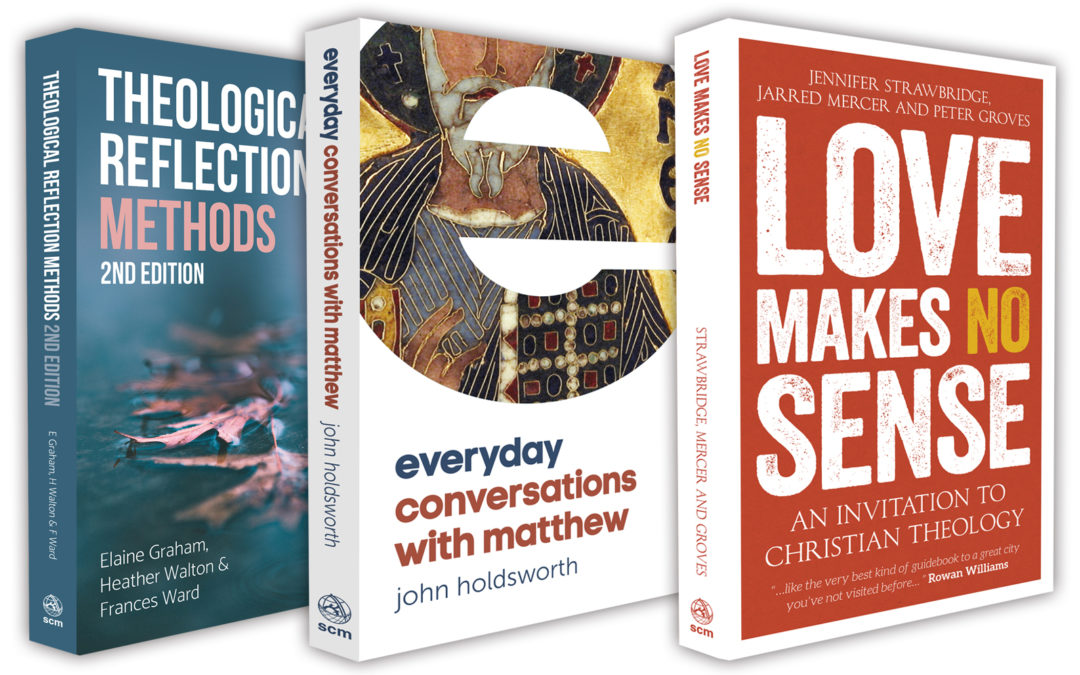 Theological Reflection Methods, Love Makes No Sense and Everyday Conversations with Matthew book covers designed by PenguinBoy