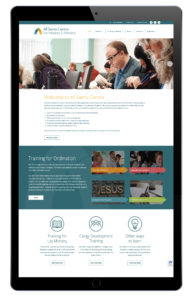 Home page of All Saints centre website