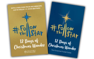 The cover designs for #Follow the Star: 12 Days of Christmas Wonder book and pocket guide