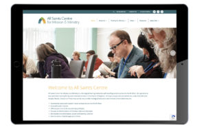 Image of home page of All Saints website