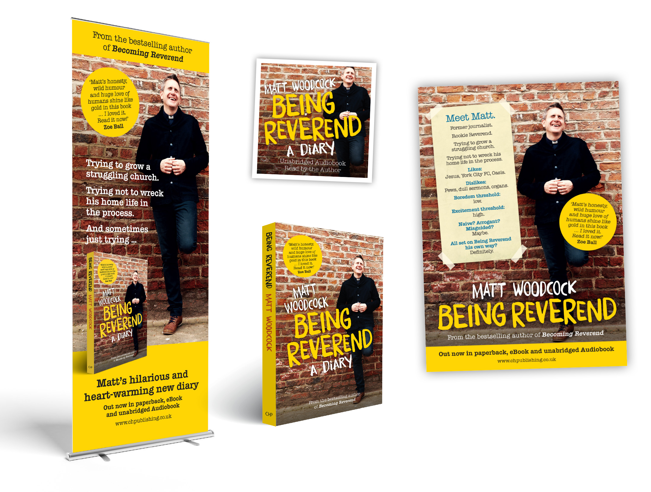 Being Reverend publicity and marketing material