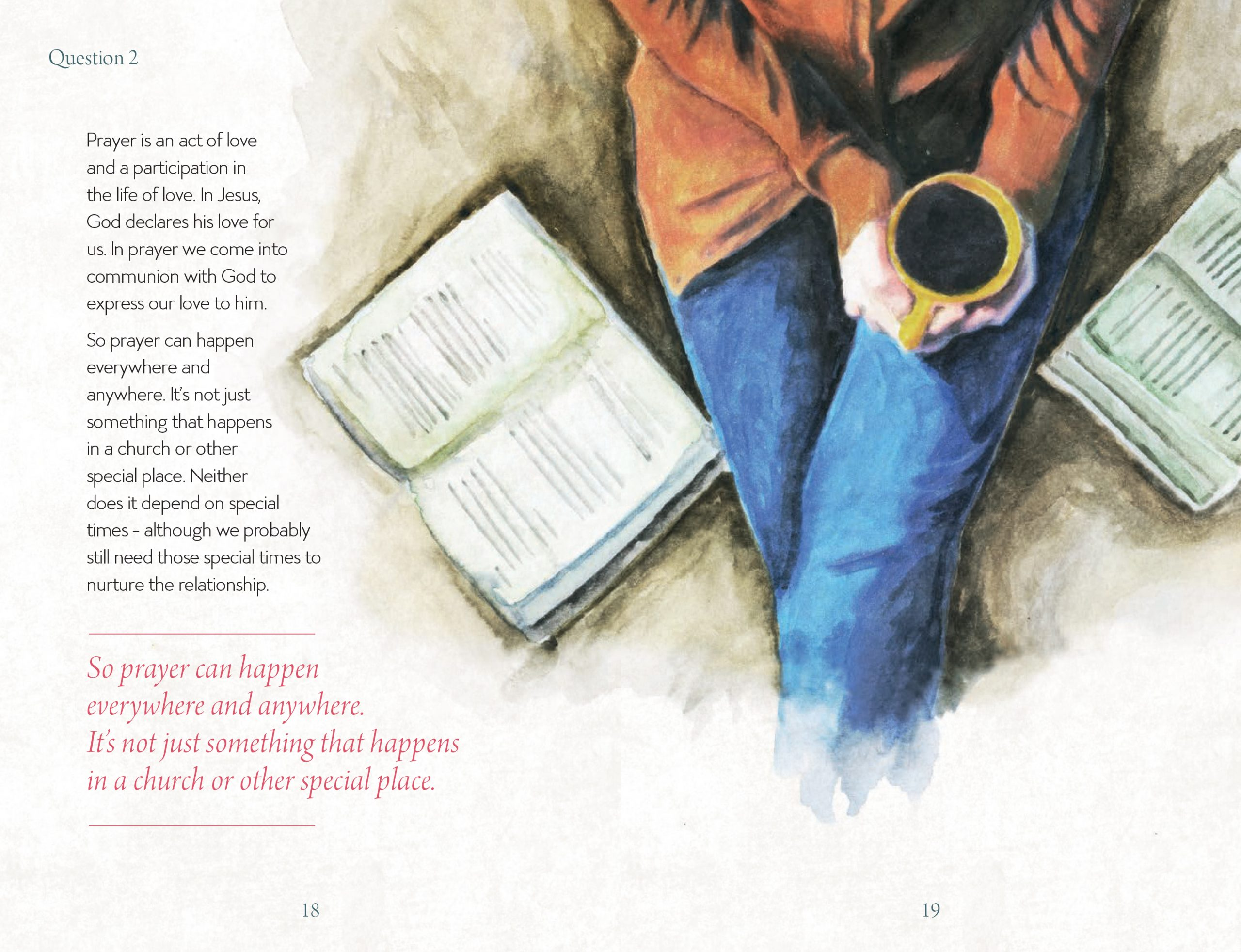 Inside page design of Prayer - Where to Start & How To Keep Going