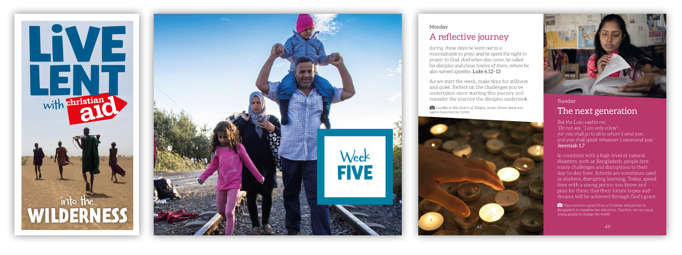 Live Lent with Christian Aid book designs
