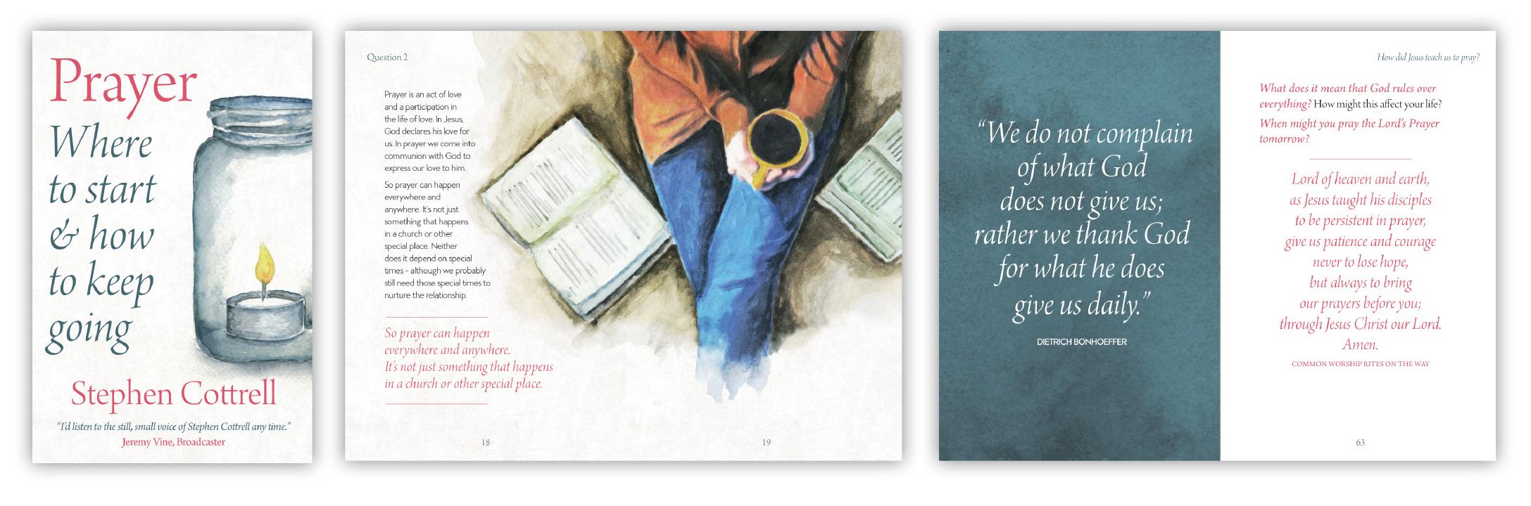 Prayer by Archbishop Stephen Cottrell book designs